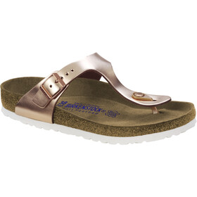 Birkenstock Gizeh Soft Footbed Flips metallic copper